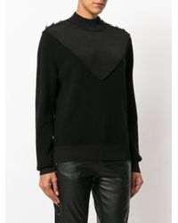 Designers Remix - Black Molly Insert Button Sweater - Lyst