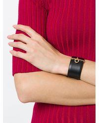 Ferragamo - Brown Gancio Charm Cuff Bracelet - Lyst