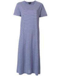 A.P.C. - Blue Striped T-shirt Dress - Lyst