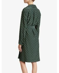 Burberry - Green Polka-dot Wrap Dress - Lyst