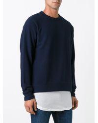YMC Blue 'king Monkey' Sweatshirt for men