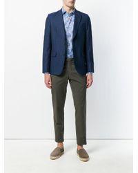 Etro - Blue Paisley Mixed Print Shirt for Men - Lyst