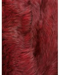 Yves Salomon - Red Four Lapin Scarf - Lyst
