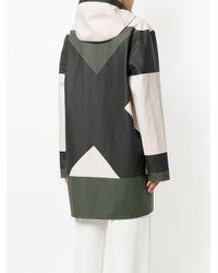 Stutterheim - Green Colour Block Hooded Raincoat - Lyst