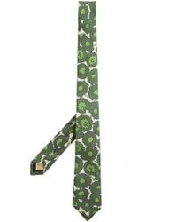 Burberry - Green Slim Cut Abstract Floral Print Silk Tie for Men - Lyst