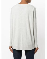 Polo Ralph Lauren - Gray Dropped Shoulders Jumper - Lyst