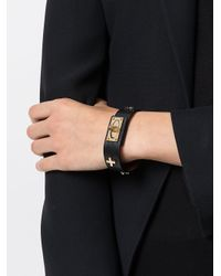 Givenchy - Black Buckled Bracelet - Lyst