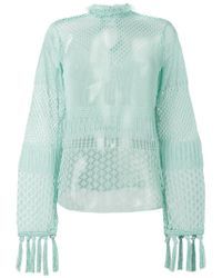 Mame - Green Sheer Net Top - Lyst