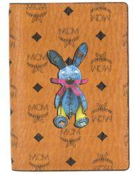 MCM Brown Rabbit Passport Holder