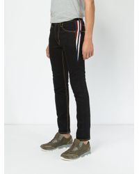 Facetasm - Blue Stripe Detail Skinny Jeans for Men - Lyst
