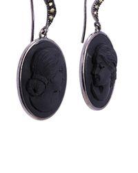 Amedeo - Black Slate Earrings - Lyst