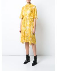 Sonia Rykiel White Belted Floral Dress