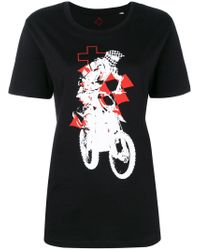 A.F.Vandevorst Black Print Short-sleeve T-shirt