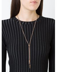 Carolina Bucci - Metallic Sparkly Lucky Lariat Necklace - Lyst