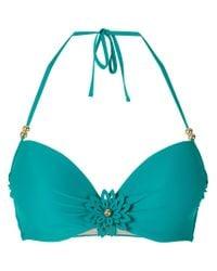 Marlies Dekkers - Green La Flor Push-up Bikini Top - Lyst