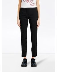 Burberry - Black Front Pleat Trousers - Lyst