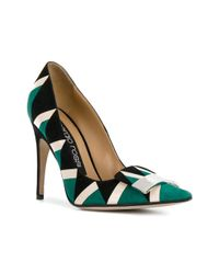 Sergio Rossi - Green Women's Multicolor Leather Pumps - Lyst
