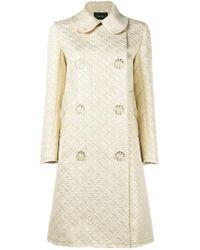 Simone Rocha | Blue Floral Button Jacquard Coat | Lyst