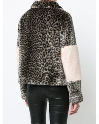 Shrimps - Multicolor Leopard Print Coat - Lyst