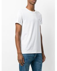 Burberry - White Crew Neck T-shirt for Men - Lyst