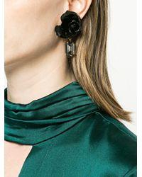 Jennifer Behr - Black 14kt Gold Plated Rose Earrings - Lyst