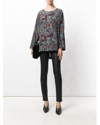 Antonio Marras - Black Floral Print Tunic - Lyst