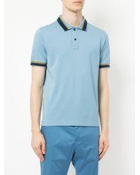 Cerruti 1881 - Blue Contrast Trim Polo Shirt for Men - Lyst