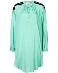 A.F.Vandevorst Green Oversized Mandarin Collar Shirt