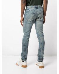 John Elliott Blue Ripped Distressed Jeans for men