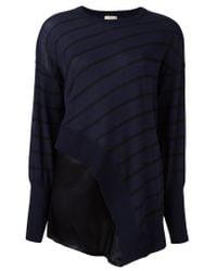 Nude - Blue Striped Asymmetric Knit Blouse - Lyst