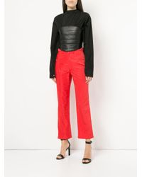 MARINE SERRE - Red Moire Trousers - Lyst