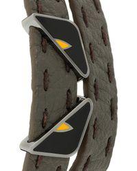 Fendi - Gray Double Tour Bugs Bracelet for Men - Lyst