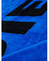 DIESEL - Blue Logo Print Beach Towel for Men - Lyst