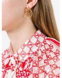 Maria Black - Yellow 'norma' Medium Hoop Earring - Lyst
