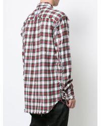 Mastermind Japan - White Checked Shirt for Men - Lyst