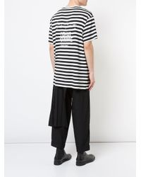 Yohji Yamamoto - Hwt14270 Black White Viscose/cotton for Men - Lyst