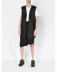 Moohong - Black Asymmetric Tailored Shorts for Men - Lyst
