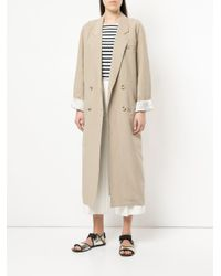 Smythe - Brown Double-breasted Fitted Coat - Lyst