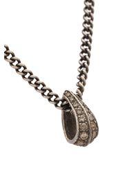 Roman Paul - Metallic Teardrop Chain Necklace for Men - Lyst