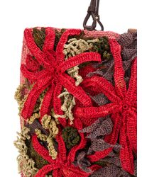 Jamin Puech - Red Knitted Shopper Tote - Lyst