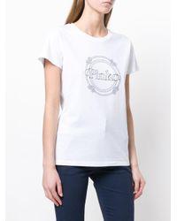 Pinko - White Logo Print T-shirt - Lyst