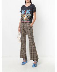 Gucci - Gray Ac/dc Print Tie-dye T-shirt - Lyst