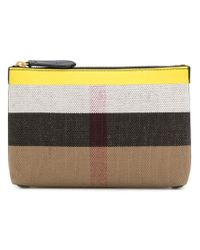 Burberry - Black Medium Check Pouch - Lyst