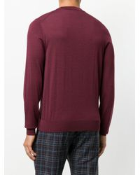 Paul Smith - Purple Crew Neck Sweater for Men - Lyst