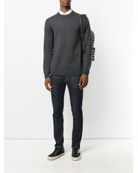 Roberto Collina - Gray Crew Neck Jumper for Men - Lyst