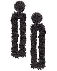 Sachin & Babi - Black Fleur Dawn Earrings - Lyst