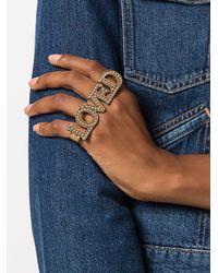 Gucci | Metallic Loved Palm Cuff | Lyst