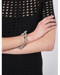 Parts Of 4 - Gray Chain Charm Bracelet - Lyst