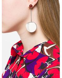 Faris - Metallic Pendo Drops Earrings - Lyst