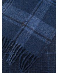 Polo Ralph Lauren - Blue Checked Fringed Scarf for Men - Lyst